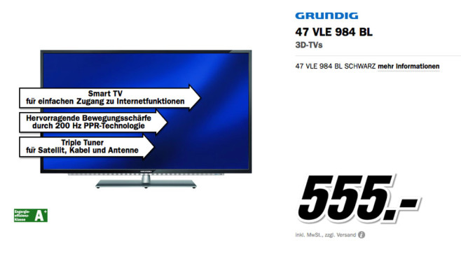 Grunding 47 VLE 984 BL ©Media Markt