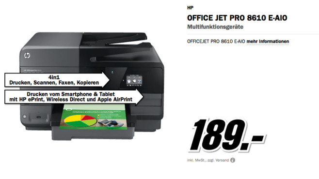 HP Office Jet Pro 8610 E-AIO ©Media Markt