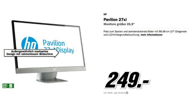 Hewlett-Packard HP Pavilion 27xi ©Media Markt