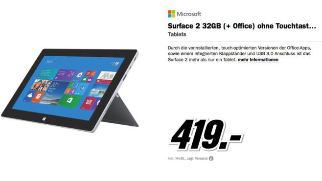Microsoft Surface 2 32GB ©Media Markt