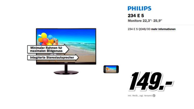 Philips 234E5QDAB ©Media Markt