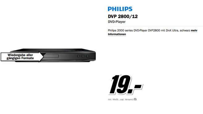 Philips DVP2800 ©Media Markt