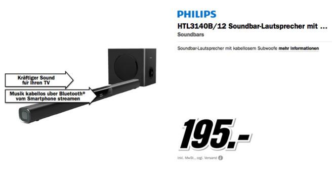 Philips HTL3140B/12 ©Media Markt