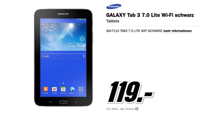 Samsung Galaxy Tab 3 7.0 Lite ©Media Markt