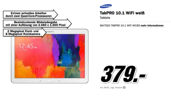 Samsung Galaxy Tab Pro 10.1 ©Media Markt