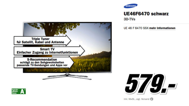 Samsung UE46F6470 ©Media Markt