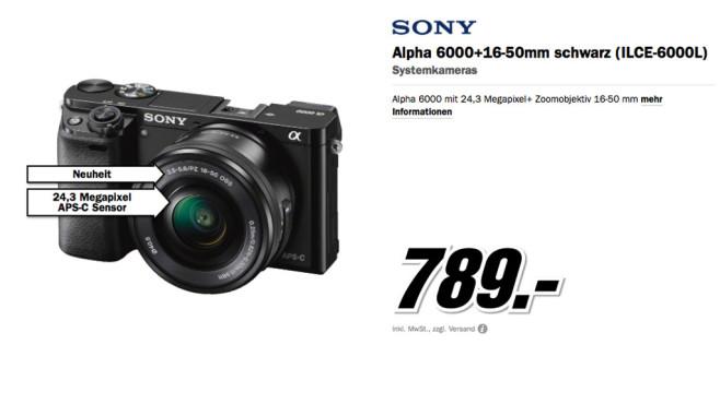 Sony Alpha 600 + 16-50 mm ©Media Markt