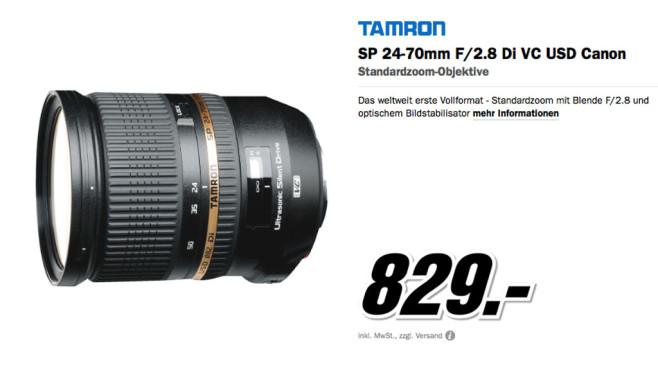 Tamron SP 24-70mm f2.8 Di VC USD [Canon] ©Media Markt