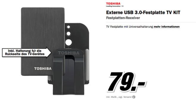 Toshiba Stor.e Alu TV Kit 1TB ©Media Markt