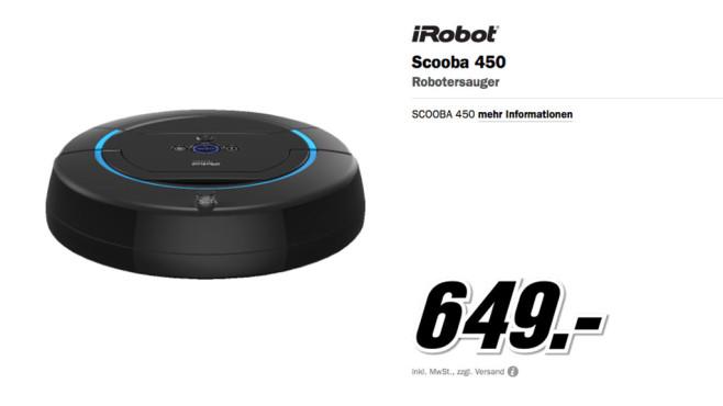 iRobot Scooba 450 ©Media Markt