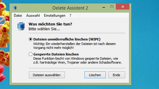Delete Assistent: Dateien mit zwei Modi löschen ©COMPUTER BILD