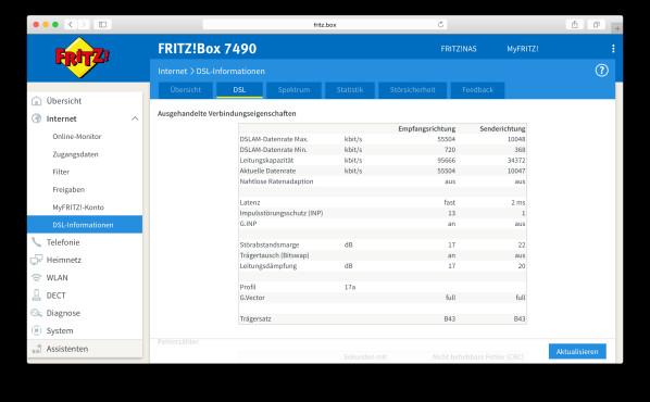 DSL-Speedtest über die FritzBox ©COMPUTER BILD