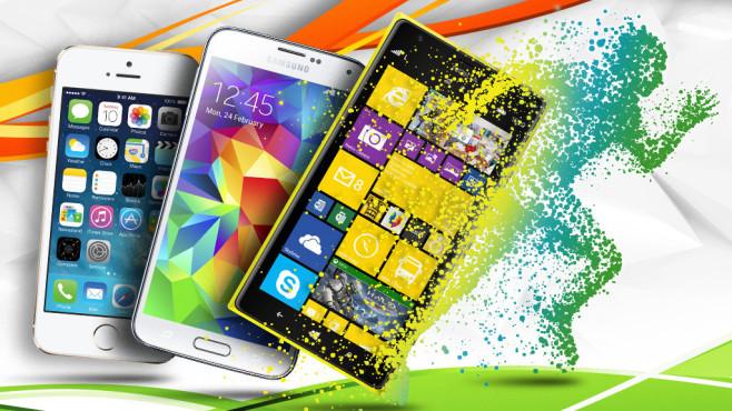 Die Smartphones und Handys mit der besten Akkulaufzeit ©Lonely - Fotolia.com, marigold_88 - Fotolia.com, Apple, Samsung, Nokia