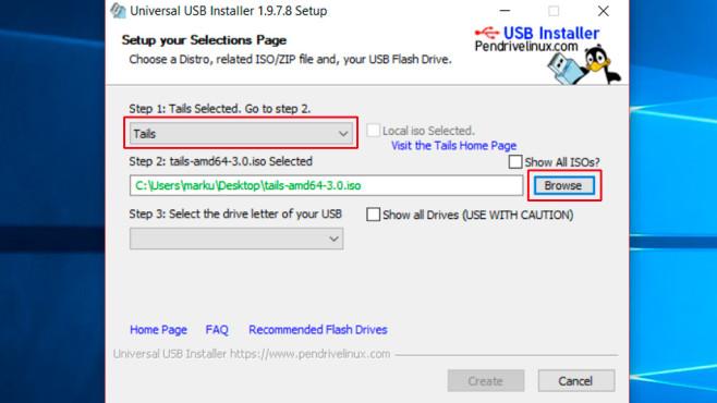 Universal USB Installer ©COMPUTER BILD
