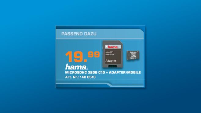 Hama MicroSDHC 32 GB Class 10 + Adapter ©Saturn