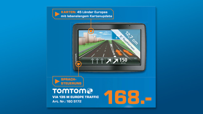TomTom Via 135 M Europe Traffic © Saturn