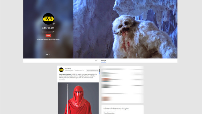 Star Wars auf Google+ © Lucasfilm Ltd.