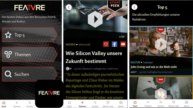 FEATVRE App – die besten Dokus © October First GmbH