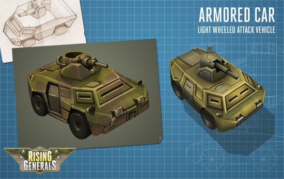 Rising Generals: Concept Art Armored Car © InnoGames