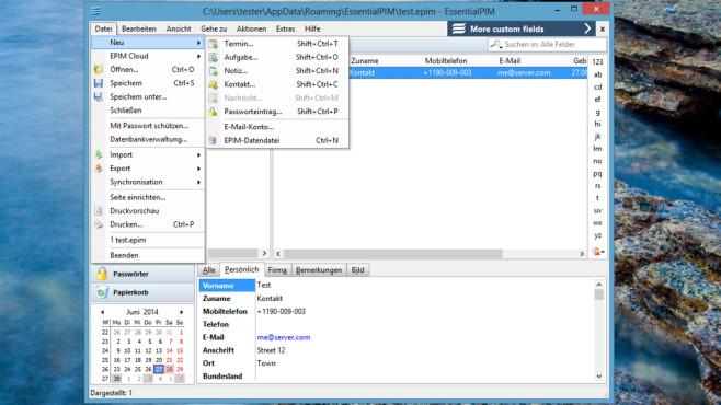 EssentialPIM Free: Termine und Aufgaben verwalten ©COMPUTER BILD