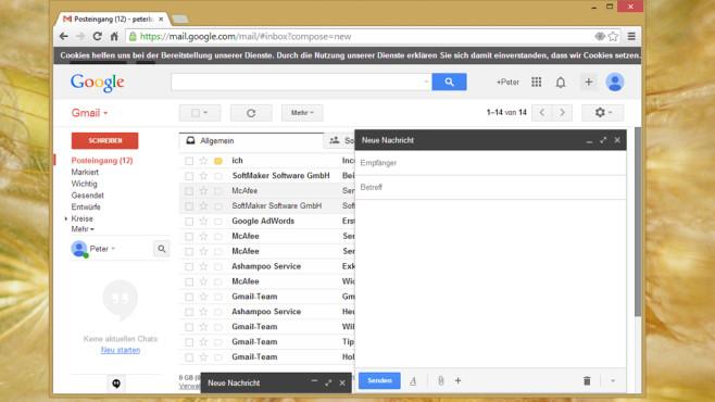 Gmail: Innovativer Maildienst von Google ©COMPUTER BILD