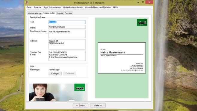 Visitenkarten in 2 Minuten: Schnell Visitenkarten erstellen ©COMPUTER BILD