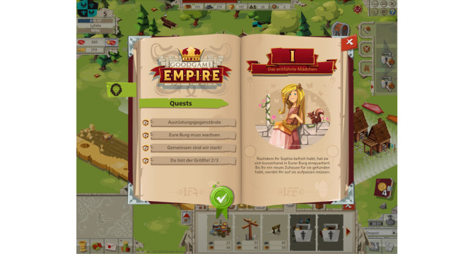 Goodgame Empire: Das Questbuch © Goodgame Studios
