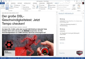 Deutsch-Wörterbuch Office-Erweiterung