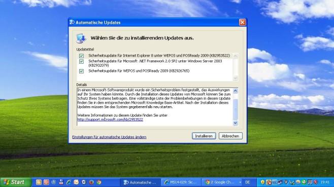 Frische Updates nach dem Registry-Hack ©Microsoft