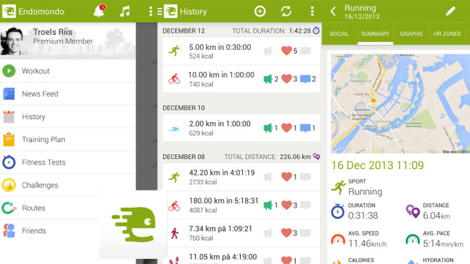 Endomondo Sports Tracker © Endomondo.com