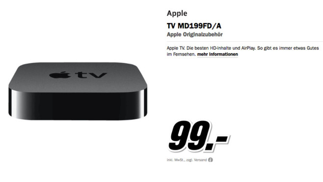 Apple TV 3 © Media Markt
