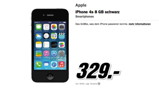 Apple iPhone 4S 8GB ©Media Markt