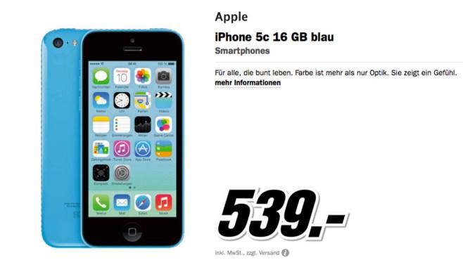 Apple iPhone 5C ©Media Markt