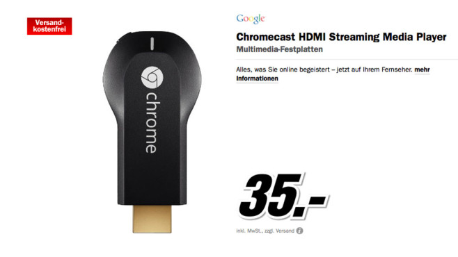 Google Chromecast ©Media Markt