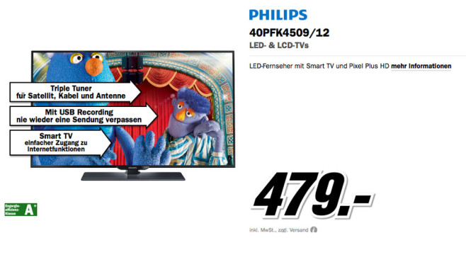 Philips 40PFK4509 © Media Markt