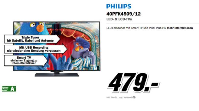 Philips 40PFK4509 ©Media Markt