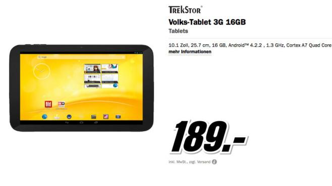 Trekstor Volks-Tablet 2 ©Media Markt