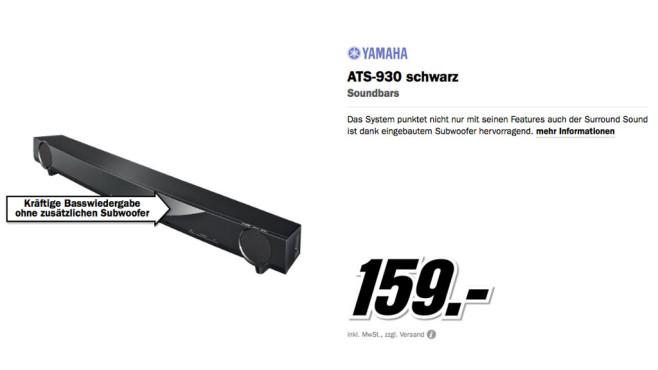 Yamaha ATS-930 ©Media Markt