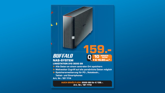 Buffalo LinkStation 210 - 3TB © Saturn