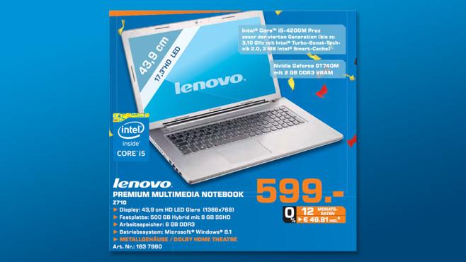 Lenovo Z710 ©Saturn