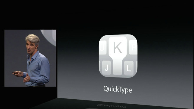 QuickType: Neue Tastatur © Apple