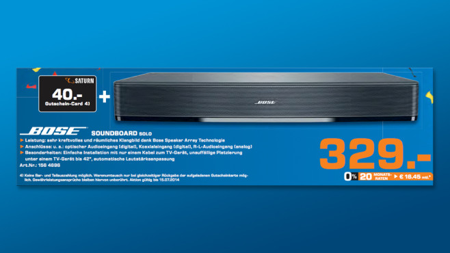 Bose Solo TV Sound System ©Saturn