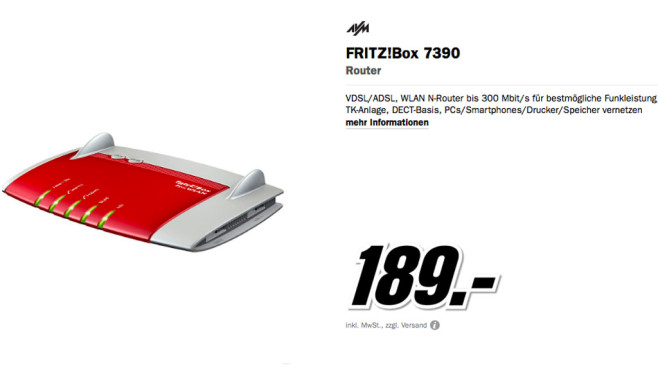 AVM FRITZ!Box 7390 © Media Markt