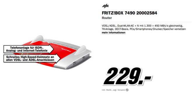AVM FRITZ!Box 7490 © Media Markt