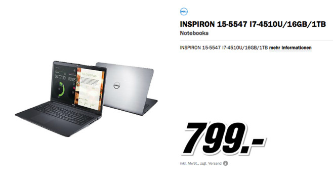 Dell Inspiron 15-5547 © Media Markt