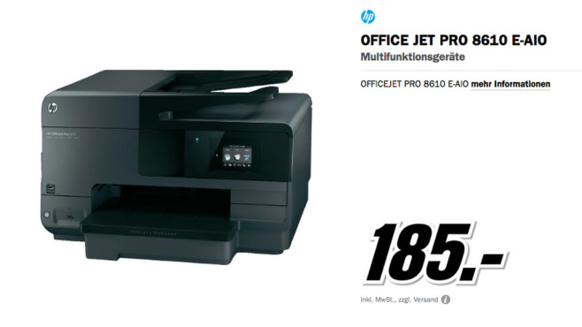 HP Officejet Pro 8610 © Media Markt