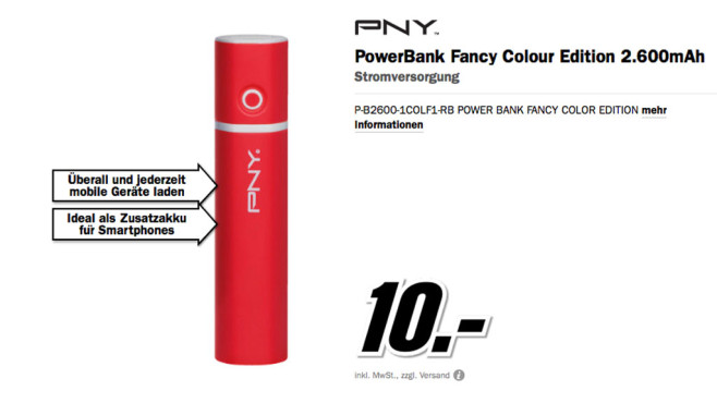 PNY PowerBank Fancy © Media Markt