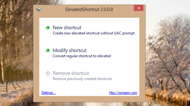 Alternative: Elevated Shortcut © COMPUTER BILD