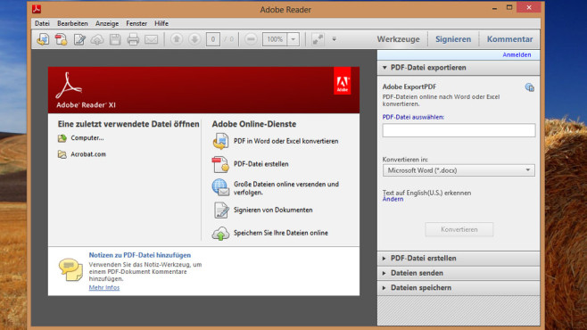 Alternativen: Adobe Reader, Foxit Reader, PDF-XChange Viewer © COMPUTER BILD