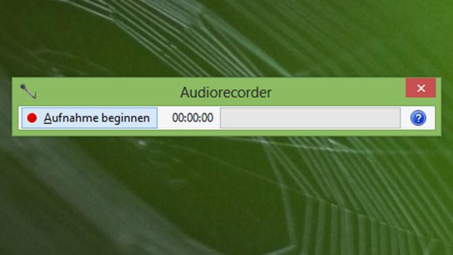 Audiorecorder ©COMPUTER BILD